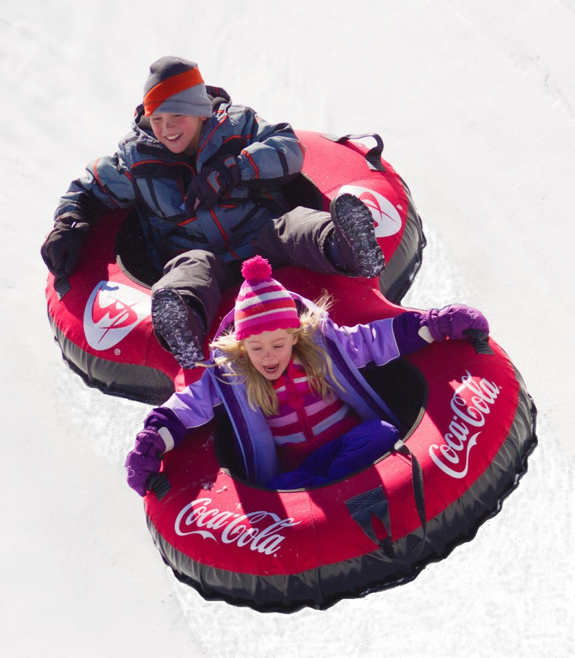 Tubing at the new Winter Park Tubing Hill